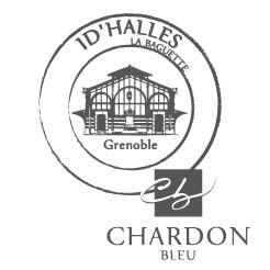 Logo Baguette ID'HALLES au chardon bleu grenoble