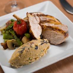 Assiette dressée 2 - traiteur Chardon Bleu