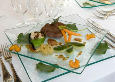 assiette dressée repas de gala 01